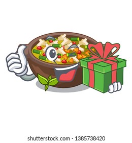With gift fried minestrone in the cup character