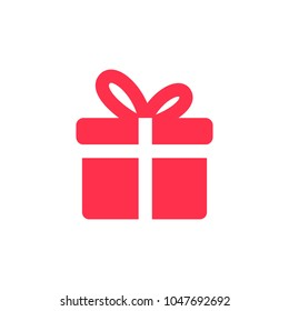 gift icon solid vector logo download