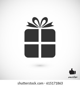 gift icon, vector best flat icon, EPS