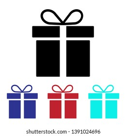 Gift icon vector, Present sign