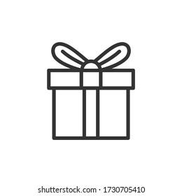 Gift line icon. Vector Illustration.