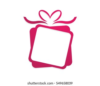 Gift Logo Template vector icon