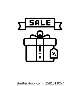 Gift Sale Icon Outline Vector. Holiday Sale Icons. Online Shop Ikon.