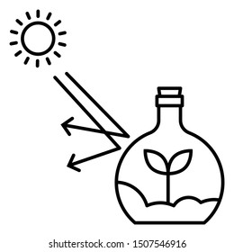 Gift for Science Lover Concept, Science Art Design, Plant in Beaker Icon