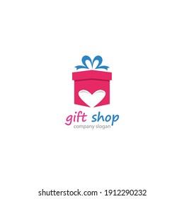 Gift Shop Logo Symbol Template Design Vector