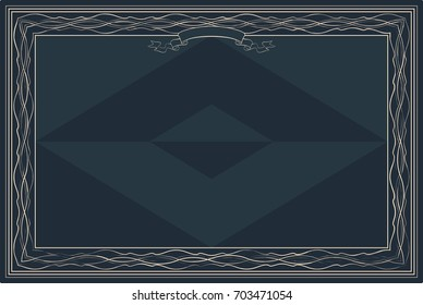 Gift certificate diploma award template border stock vector gift vector certificate diploma award template with border and celtic pattern strips and yadclub Images