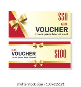 gift voucher for business concept. vector illustration