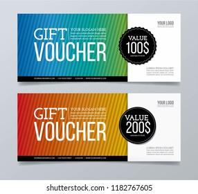 Gift voucher card.