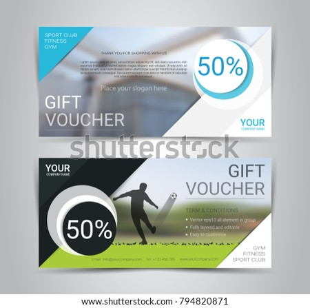 gift voucher card banner web template stock vector royalty free