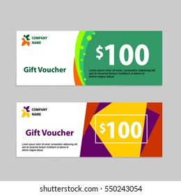 Gift voucher card template design.  Concept for retail, shop, voucher, business template, banner design. Thank giving, and other sale. vector stock.