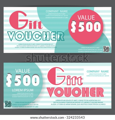 Gift voucher certificate coupon template cute stock vector royalty gift voucher certificate coupon template cute and modern style can be use for business cheaphphosting Choice Image
