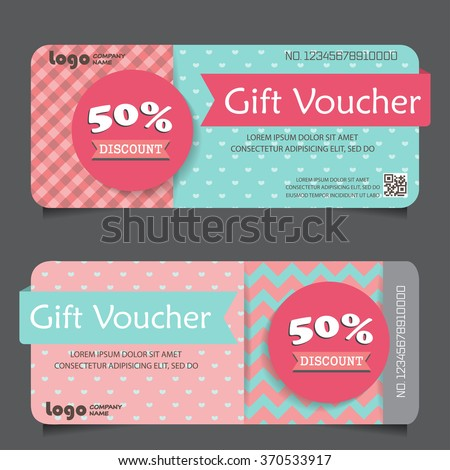 Gift voucher certificate coupon template cute stock vector royalty gift voucher certificate coupon template cute and modern style can be use for business accmission Choice Image