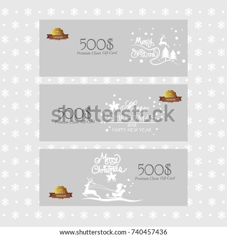 gift voucher gift certificate coupon templatechristmas stock vector