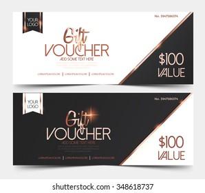 Gift voucher certificate  design template. Vector illustration