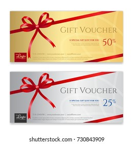 Gift voucher, certificate or discount card template for promo compliment