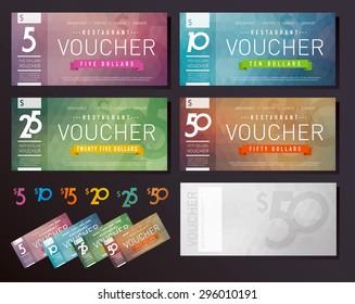Gift Voucher certificate set