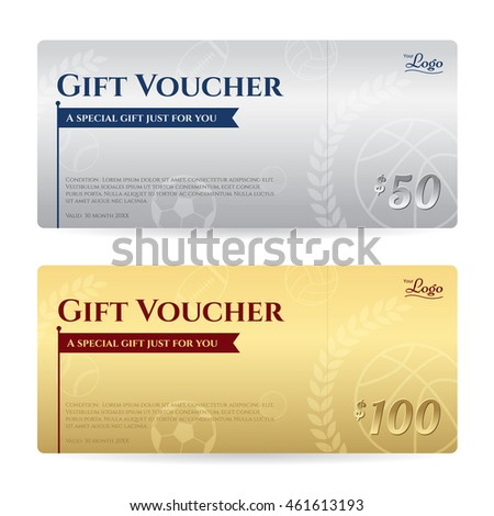 Gift Voucher Gift Certificate Template Luxury Stock Vector Royalty