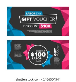 Gift voucher or coupon. Labor day sale