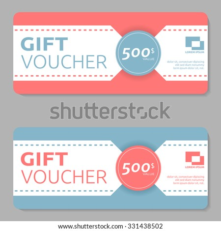 gift voucher design template stock vector royalty free 331438502