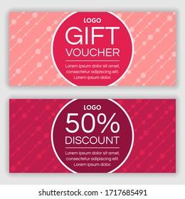 Gift voucher design. Vector illustration
