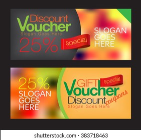 Gift voucher and discount voucher template.