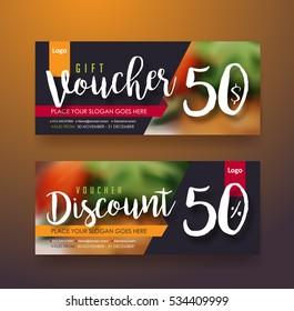 Gift voucher discount template,Vector illustration