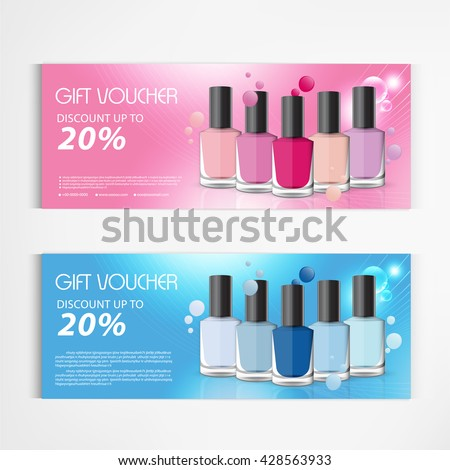 gift voucher nail polish bottle drop stock vector royalty free