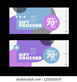 Gift voucher for shop or beauty salon with sale offer