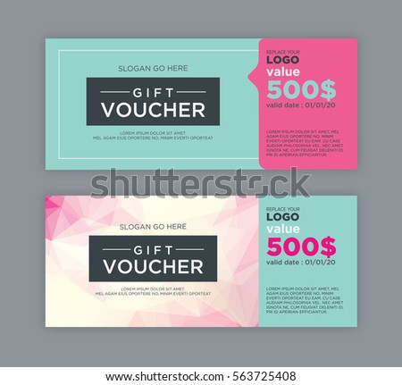 Gift Voucher Template Stock Vektorgrafik Lizenzfrei 563725408