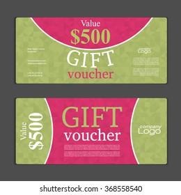 vector illustration discount voucher template clean stock vector