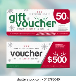 Christmas gift certificate images stock photos vectors shutterstock gift voucher template with christmas colorful patternmerry christmasvector illustration yadclub Choice Image
