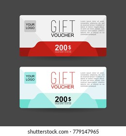 gift voucher template with clean and modern vector design