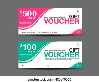 Gift Voucher template, coupon design,ticket,background design,business banner template,invitation
