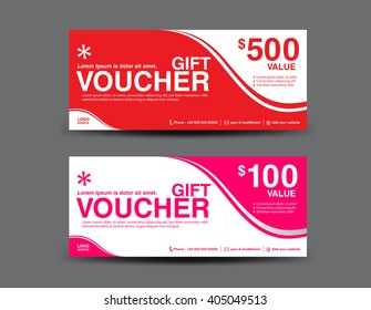 Gift Voucher template, coupon design,ticket,vector illustration,business banner template,invitation,card design