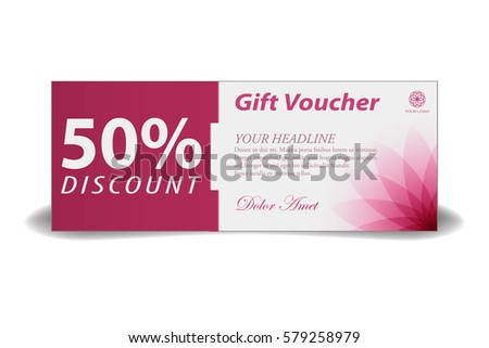 gift voucher template discount coupon spa stock vector royalty free