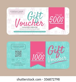 Gift voucher template , eps10 vector format