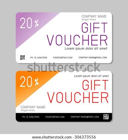 Gift Voucher Template Modern Pattern Voucher Stock Vector Royalty