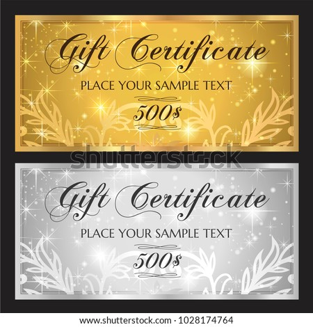 Gift Voucher Template Printable Christmas Gift Stock Vector Royalty