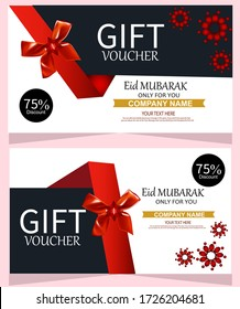 Gift Voucher Template Promotion Sale discount, Universal white and black flyer template for advertising a gym or business.