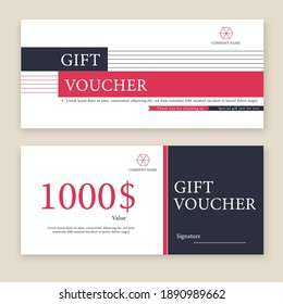 Gift Voucher Template Promotion Sale discount, black and white background
