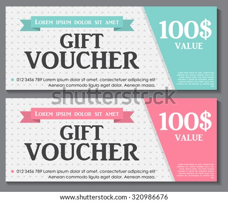 gift voucher template with sample text vector illustration eps10