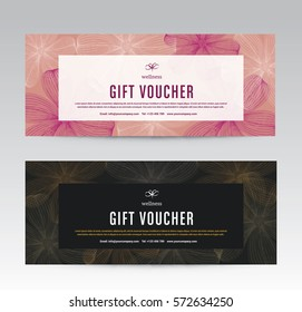 stock illustrations images vectors shutterstock gift voucher template for spa flower spring hotel resort vector illustration yelopaper Choice Image