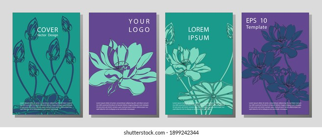 Gift Voucher template for Spa, Hotel Resort, Vector illustration. Wellness brochure template - for relaxation, healthcare, medical topics.