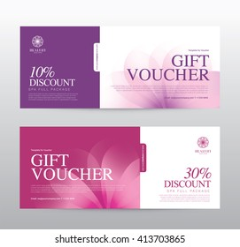 Beauty salon banner stock images royalty free images vectors gift voucher template for spa hotel resort vector illustration yelopaper Images