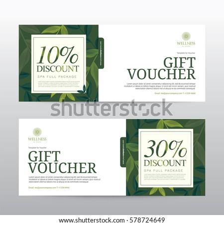 Gift Voucher Template Spa Hotel Resort Stock Vector Royalty Free