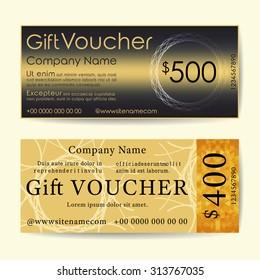 Gift Voucher Template. Trendy Simple Flyer Layout. Vector Design.