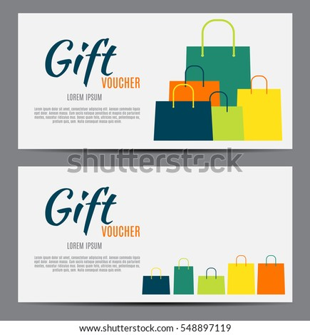 Gift voucher template your business vector stock vector royalty gift voucher template for your business vector illustration eps10 accmission Image collections