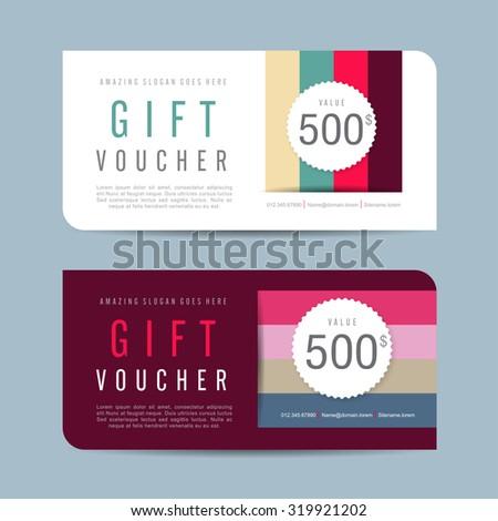 gift voucher templategift voucher certificate coupon stock vector