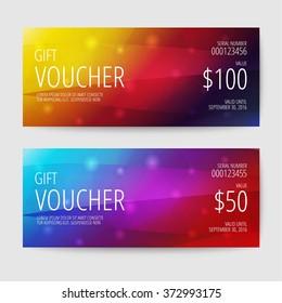 Gift Voucher Templates Stock Photo Photo Vector Illustration