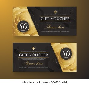 Gift voucher template.Vector illustration